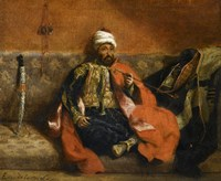 Turk, Smoking on a Divan by Eugene Delacroix - various sizes, FulcrumGallery.com brand