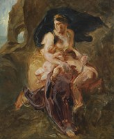 Medea about to Kill her Children by Eugene Delacroix - various sizes, FulcrumGallery.com brand