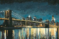 Bright City Lights Blue I by James Wiens - various sizes, FulcrumGallery.com brand