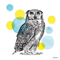 Sketchbook Lodge Owl Fine Art Print