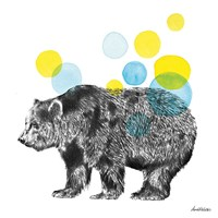 Sketchbook Lodge Bear Fine Art Print