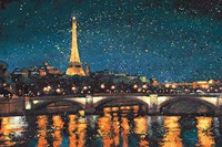 Paris Nights Blue I Fine Art Print