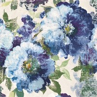 Indigo Floral Gallery by Wild Apple Portfolio - various sizes