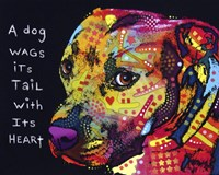 Gratitude Pitbull by Dean Russo - various sizes, FulcrumGallery.com brand