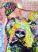 Thoughtful Pit Bull This Years Love 2013 Part 1 Fine Art Print