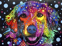Golden Retriever (on black) Fine Art Print
