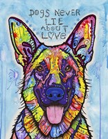 Dogs Never Lie Fine Art Print