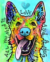 Love And A Dog Fine Art Print