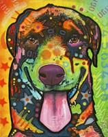 Rottie Pup Framed Print