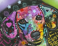 Dog with Hearts by Dean Russo- Exclusive - various sizes