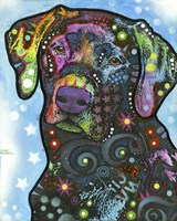 Dog on Blue by Dean Russo- Exclusive - various sizes - $25.49