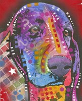 Dog in Purple by Dean Russo- Exclusive - various sizes - $50.49