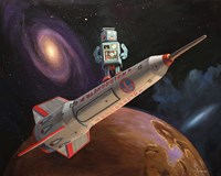 Rocket Surfer Fine Art Print
