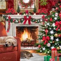 Christmas Pets Fine Art Print