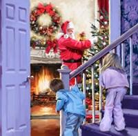 Watching Santa Fine Art Print