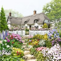 English Cottage Fine Art Print