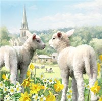 Easter Lambs Fine Art Print