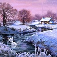 Christmas Geese Fine Art Print