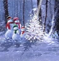 Snow Family 1 Fine Art Print