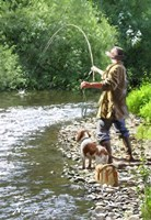 Fishing The Shallows Fine Art Print