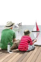 Dad Son Boat Fine Art Print