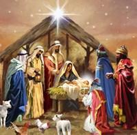 Nativity Collage Framed Print