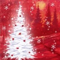 Red Christmas Scene Fine Art Print
