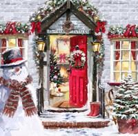 Red Front Door Fine Art Print