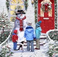 Garden Snowman Fine Art Print