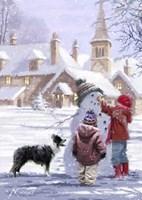 Village Snowman Fine Art Print