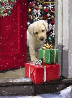 Puppy With Presents Fine Art Print