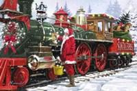 Santa's Train 1 Fine Art Print