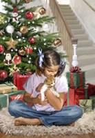 Girl With Kitten Fine Art Print