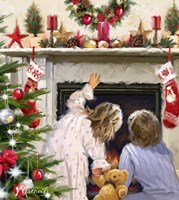 Girl And Boy Looking Up Chimney Fine Art Print