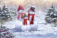 Snow Family 2 Fine Art Print