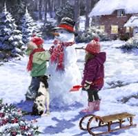 Snowman 2 Fine Art Print