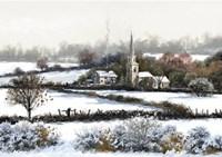 Snowy Fields Fine Art Print