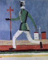 The Running Man, (1933-1934) by Kazimir Malevich, 1934 - various sizes