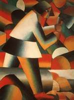 The Woodcutter, 1912 by Kazimir Malevich, 1912 - various sizes