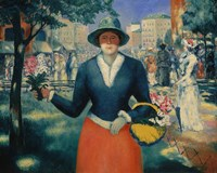 The flower Seller, Late 1920s by Kazimir Malevich, 1920s - various sizes, FulcrumGallery.com brand