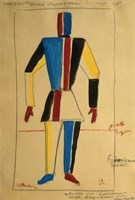 Study for a Man, 1913 by Kazimir Malevich, 1913 - various sizes