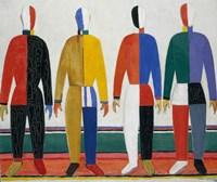 Sportsmen-1932 by Kazimir Malevich, 1932 - various sizes