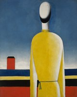 Presentimento Complex (Man with yellow shirt)-1932 by Kazimir Malevich, 1932 - various sizes - $18.99