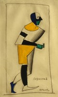 The Athlete, 1913 by Kazimir Malevich, 1913 - various sizes