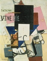Composition with the Mona Lisa, 1913 by Kazimir Malevich, 1913 - various sizes