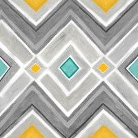 Chevron Tile Black/White I by Cynthia Coulter - various sizes, FulcrumGallery.com brand