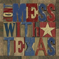 Texas Printer Block I by Tara Reed - various sizes - $16.99