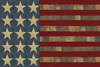 Patriotic Printer Block Flag Fine Art Print