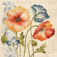 Watercolor Poppies Multi I by Pamela Gladding - various sizes - $16.99