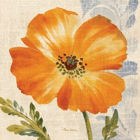 Watercolor Poppies III (Orange) Fine Art Print
